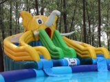 水上樂園投資多少錢 兒童水滑梯充氣滑梯 支架水池 移動水池
