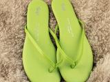 一件代发2014夏季人字拖夹脚凉拖羊皮鞋垫凉拖鞋gap原单货