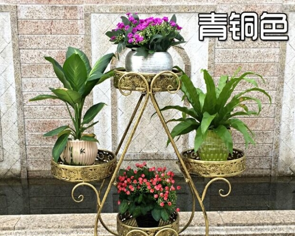 花店展示架 欧式铁艺花架 多层花盆架 绿萝吊篮花架