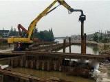 北京打桩公司工程中国股市 打拔钢板桩工字钢围堰