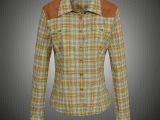 专柜正品以纯2014女装春装新款韩版潮修身衬衣长袖女衬衫1212