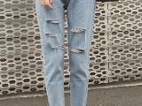 韩版秋冬新款女式牛仔裤批发厂家直销低价一手货源5元牛仔裤批发
