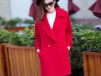 2015冬新款双面呢大衣羊绒大衣中长款女式呢子毛呢外套羊毛风衣女