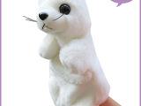 厂家现货手偶玩具海狮 大号海洋动物手指偶1个起批