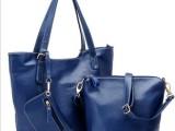 包包2014新款潮流女包 配皮单肩大包斜挎女士手提包袋子母包