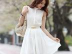 新款甜美女装雪纺背心裙欧根纱刺绣连衣裙加盟代发货招淘宝代理