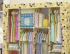 简易衣柜实木牛津布大容量几乎全新