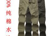 2014新款男休闲裤jeep.mmr男士纯棉宽松多口袋工装裤薄款