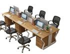 办公桌椅组合办公家具职员办公桌四人位屏风工作位简约现代员工桌