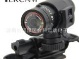 批发高清自行车头盔摄像机F9 防水高清运动DV 手电筒式行车记录