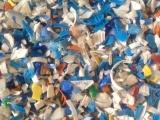 进口大蓝桶、大白桶破碎料 进口小瓶、瓶盖破碎料