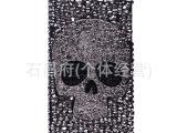 个性镶钻骷髅头手机壳批发iphone保护套4代5s苹果手机壳