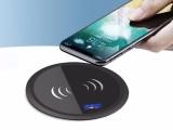 厂家直销嵌入式办公桌面无线充电器标准10w快充无线充电器