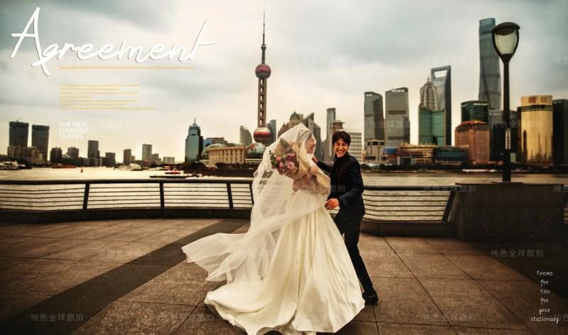 纯色婚纱摄影上海三亚大理丽江厦门青岛旅拍