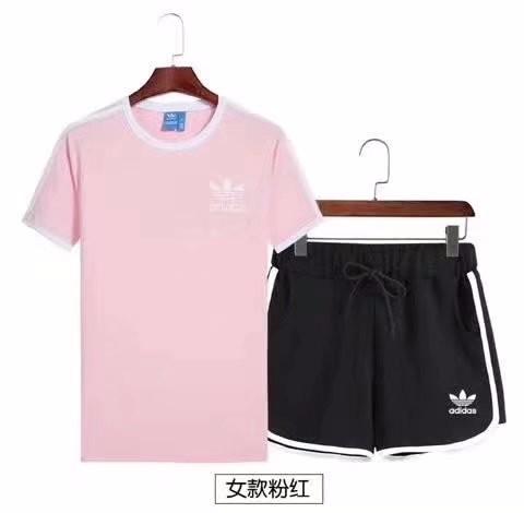 休闲运动套装男女夏季短袖两件套男士短裤套装夏天跑步运动服恤