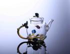厂家批发耐热玻璃水杯木底月牙杯个人过滤一体泡茶杯