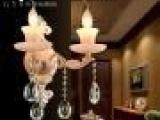 光艺尚供应水晶蜡烛灯 店铺壁灯吊灯工程壁灯KTV酒店欧式玉石吊灯