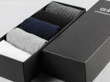 全棉双针 秋冬款 经典纯色中筒男袜子 吸汗透气 舒适男袜厂家批发