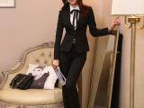 厂家现货定制春秋女式小西装外套酒店工作服制服长袖职业女装套装