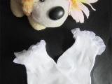 6.1号 儿童白色花边小袜 全棉舞蹈袜子