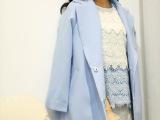 一件代发免费代理欧洲站韩国代购2014春款韩版中长款风衣外套女