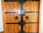 北京实木家具产常年定做高级柚木家具老榆木古典大门
