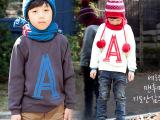 2015外贸春款童装 纯棉面料儿童A子长袖卫衣男童外套男童卫衣冬