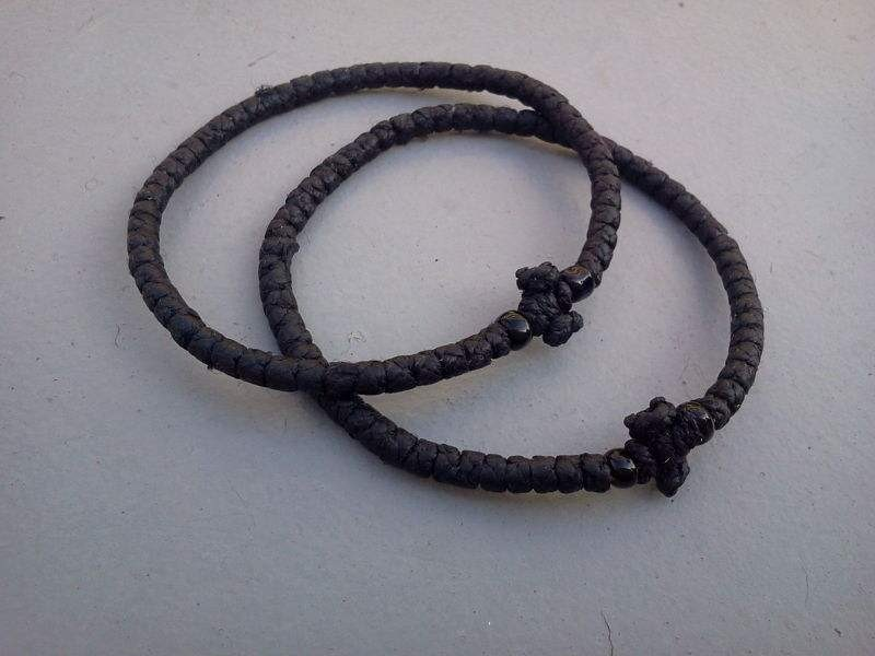 源头工厂生产手工编织手链 打结纽扣结手绳 东正教祷告用绳结