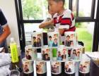 南宁杯子印相片或文字印二维码公司LOGO送客户个性礼品广告杯