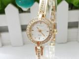 正品纤细表带唯美金色女式手表可爱女人精致女表时尚女学生手链表