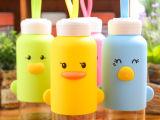 创意可爱动物儿童玻璃杯 随手杯子 车载水杯批发高硼硅萌吖吖水瓶