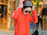2014冬爆款女装棉衣外套 韩版连帽领修身小棉袄短款厂家直批