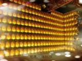 廠家直銷丨慈愿智能琉璃佛架丨佛墻祈福燈丨線上供燈