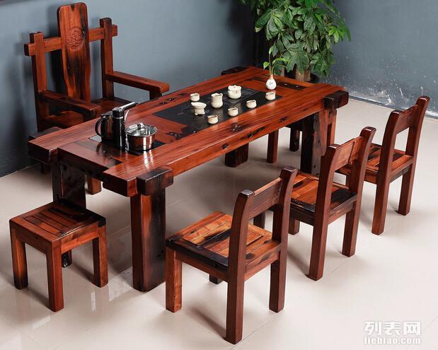 尚亿船木家具茶桌老船木茶几船木实木茶桌 茶几 支持定做 批发