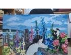 丙烯沥粉画 人物风景画 装饰画