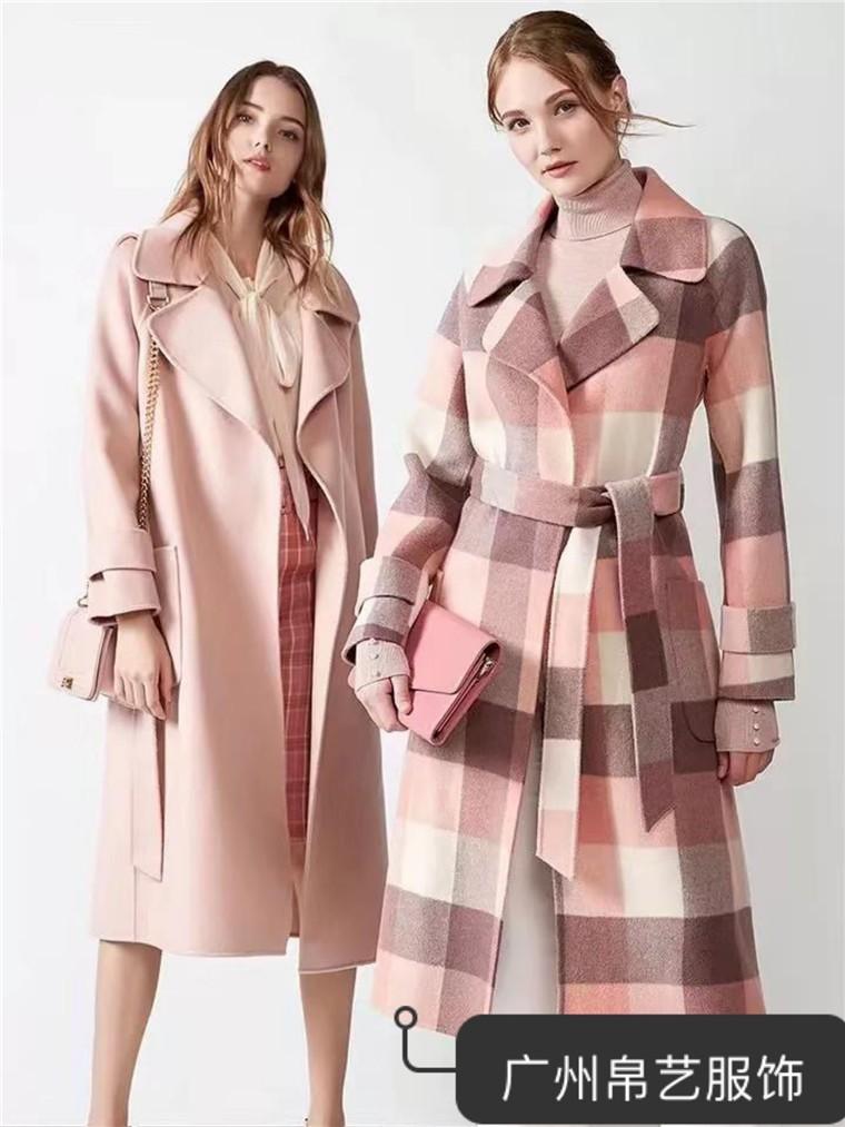 19年新款女装大衣 双面呢大衣 时尚