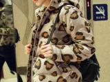 2014秋季新款 韩国东大门豹纹爱心女式棉衣外套 热卖女装批发