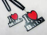 亚克力I LOVE MaMa项链 I心Baby项链 亲子项链 现