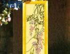 十字绣成品 紫藤花 米色布
