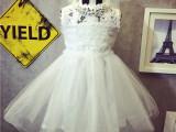 六一儿童公主裙夏季新款女童背心裙宝宝蕾丝纱裙蓬蓬裙连衣裙2081