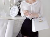 2014年夏季新款 菁菁同款雪纺短袖上衣+网纱半身裙百褶套装 批