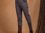 冬季新款女式休闲裤女松紧腰九分靴裤加绒裤厚螺纹搭配,斯琴风格