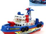 航海模型消防船玩具 儿童电动玩具船 可喷