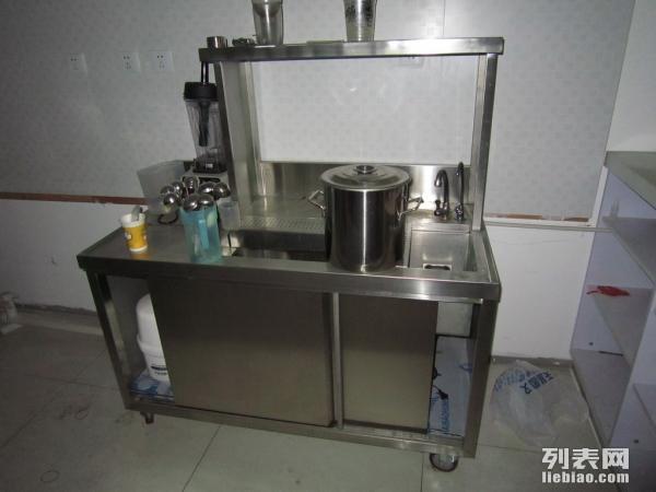 全套厨房设备转让 水池 工作台 货架 单眼灶 蒸箱 平冷柜