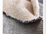 全棉加厚防寒毛绒针织服装面料 色织单面绒 粗针绒 一体单面毛绒