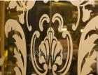 莫戈304玫瑰金镜面不锈钢蚀刻板电梯门