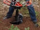 绿化苗木打孔 植树造林挖坑机 挖坑打洞机地转挖坑机热销.