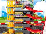 新款热卖儿童停车场玩具多层轨道车模型男孩