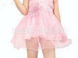 儿童童装吊带连衣裙幼儿公主纱裙亮片舞蹈服主持人小班舞蹈服装夏