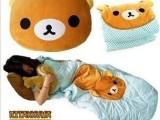 超萌 轻松小熊棉质卡通空调被 两用夏凉被 3合一抱枕靠垫批发